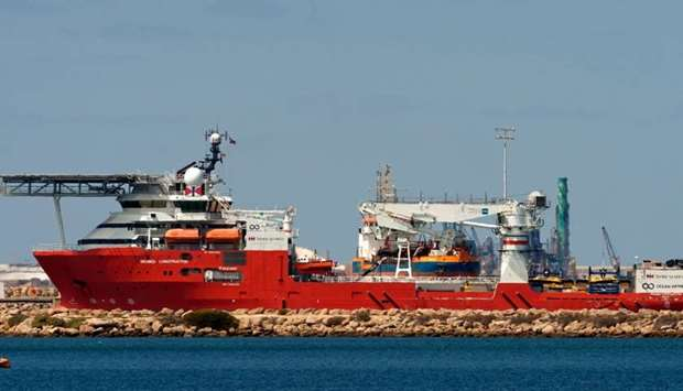 The Seabed Constructor ship, being used in the search for missing Malaysia Airlines MH370 which disa