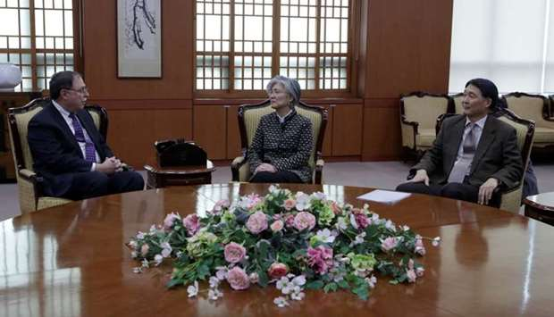 South Korean Foreign Minister Kang Kyung-wha, Timothy Betts, acting Deputy Assistant Secretary and S