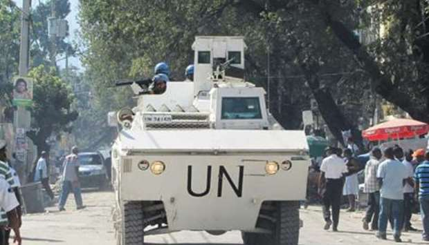 A UN Armored Personnel Carrier in Haiti