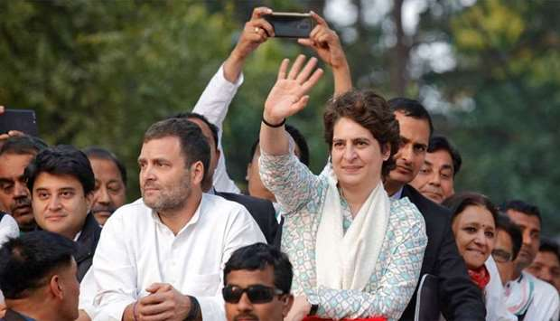 Priyanka Gandhi Vadra, a leader of India's main opposition Congress party and sister of the party pr