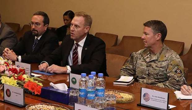 Photo released by Afghanistan's Government Media and Information Center (GMIC) acting Pentagon chief
