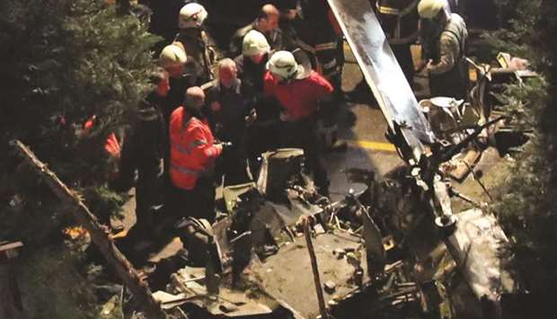Istanbul helicopter crash