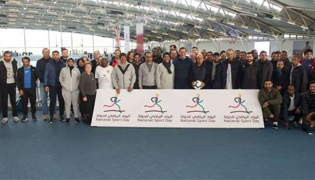 The Embassy of the State of Qatar in London, UK celebrate Qatar National Sport Day at Lee Valley Ath