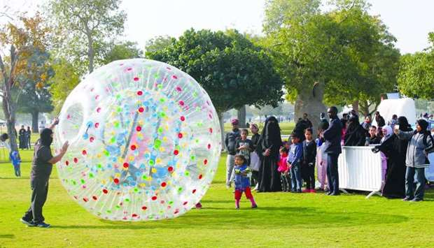 Aside from sports, fun-filled activities abound at Aspire Park. PICTURE: Jayaram.