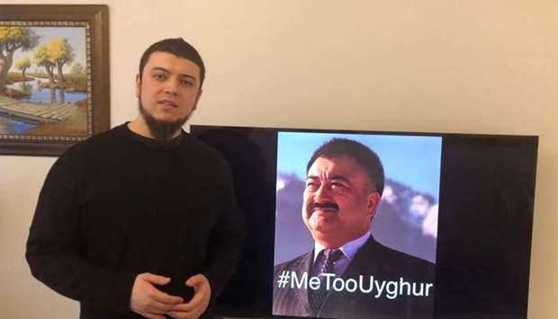 "Arslan Hidayat, the son-in-law of Uighur comedian Adil Mijit (R), calling for a ""proof of life video"