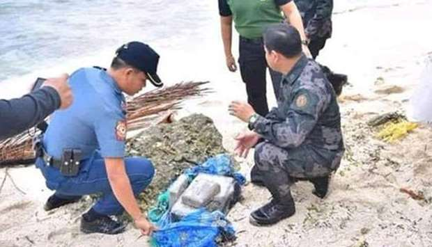 Bricks of cocaine recovered from the sea