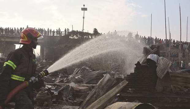 Nine dead in Bangladesh slum fire