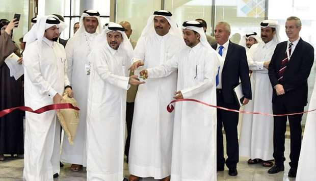 Qatar University president Dr Hassan Rashid al-Derham at the opening of the QU Career Fair