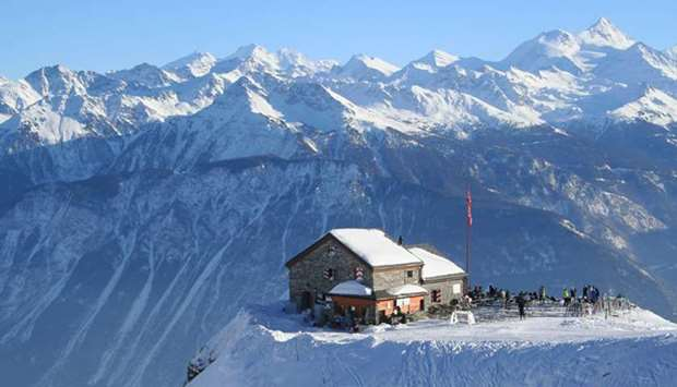 Swiss resort of Crans-Montana