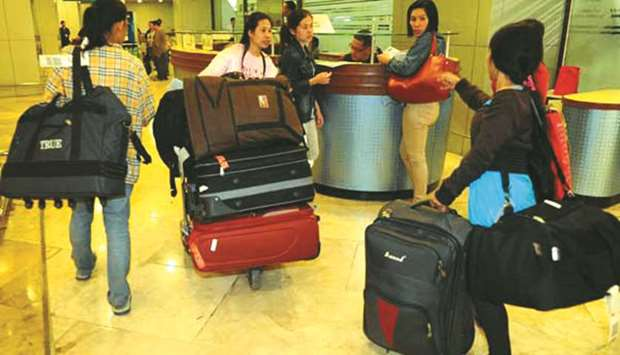 File photo shows Overseas Filipino Workers