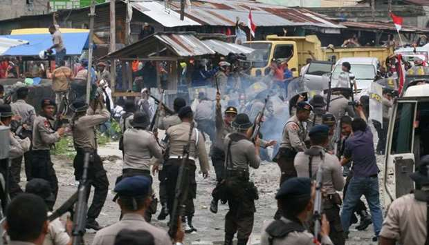 Clashes in Indonesia's province of Papua
