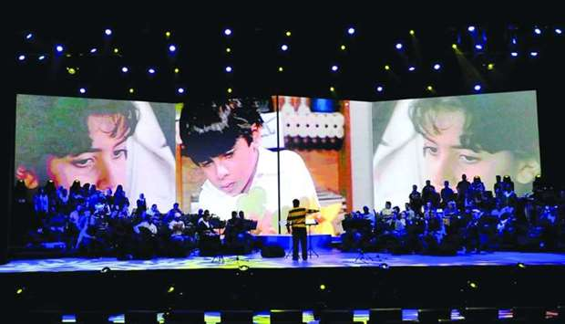 A moment from 'The 1980s Show' performed at the QNCC. PICTURE: Nasar T K.