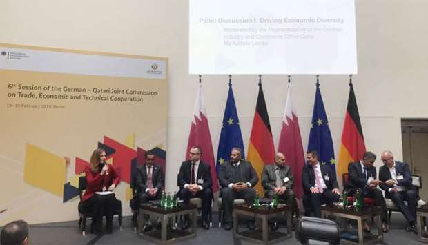 Al-Jaida during a panel discussion on the sidelines of the 6th session of the 'Joint Qatari-German C