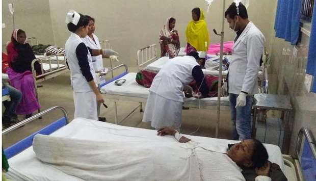Victims are under medical treatment at Jorhat hospital after allegedly drinking toxic bootleg liquor