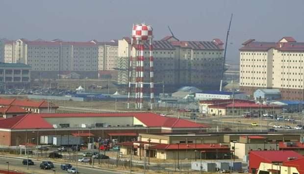 A general view of the US Camp Humphreys in Pyeongtaek