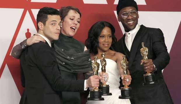 Best Actor Rami Malek, Best Actress Olivia Colman, Best Supporting Actress Regina King and Best Supp