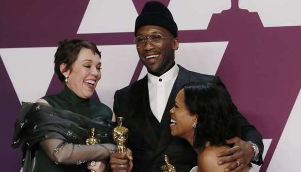 Best Actress Olivia Colman, Best Supporting Actor Mahershala Ali and Best Supporting Actress Regina