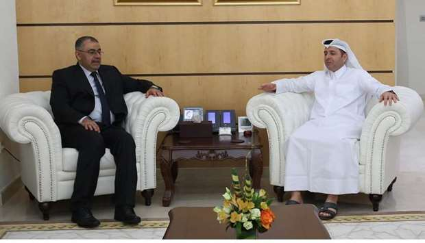 HE the Minister of Education and Higher Education Dr Mohammed bin Abdul Wahed Al Hammadi meets with