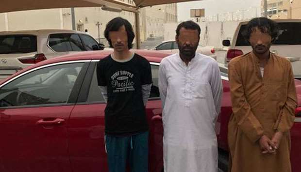 Three Asian nationals arrested for stealing