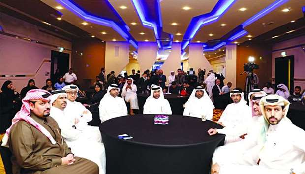 The event gathered experts in the field of tech development and was attended by senior Katara offici
