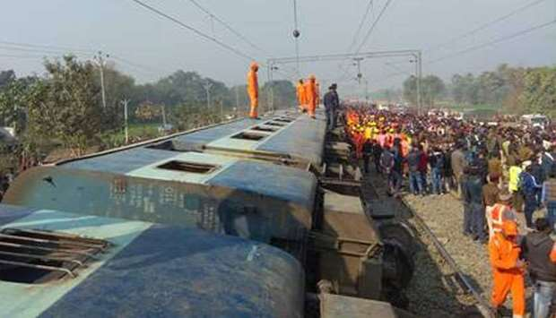 Train derails in eastern India