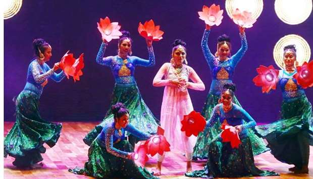 A scene from the 'Ticket to Bollywood' performance.