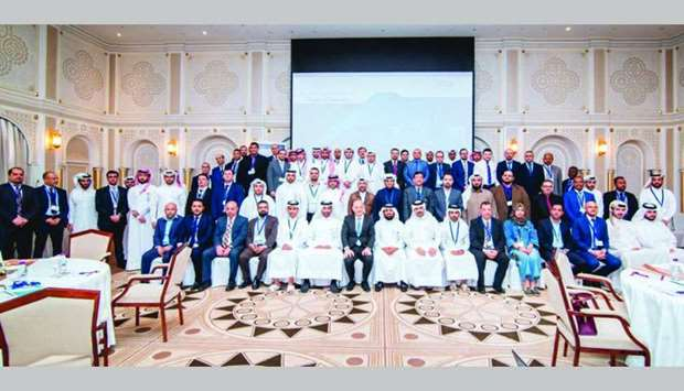 QFMA officials with training programme participants