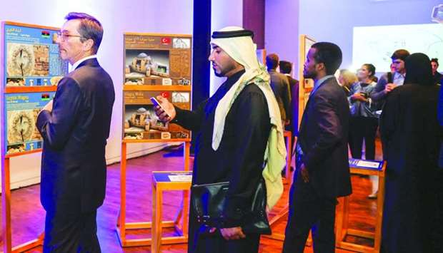 Dignitaries and other guests viewing the exhibition. PICTURES: Noushad Thekkayil