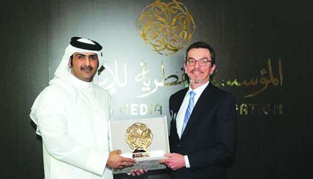 HE the Chief Executive Officer of Qatar Media Corporation (QMC), Sheikh Abdulrahman bin Hamad al-Tha