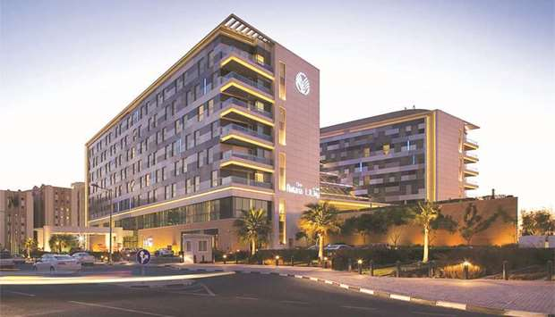 A view of the Oryx Rotana