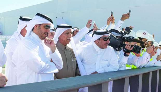 HE the Prime Minister and Interior Minister Sheikh Abdullah bin Nasser bin Khalifa al-Thani and othe