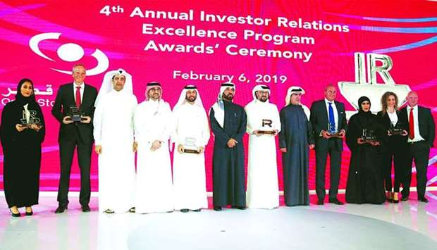 Al-Mansoori joins the awardees of the '2018 IR Excellence Programme' held in Doha recently. PICTURE: