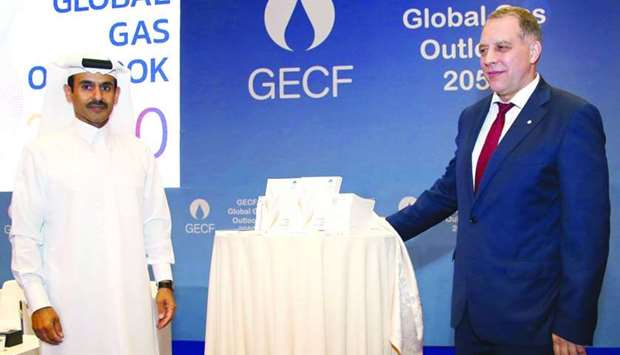 """The """"GECF Global Gas Outlook 2050"""" was launched Monday at the Sheraton Grand Doha"""