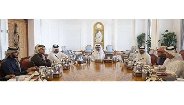 His Highness the Amir Sheikh Tamim bin Hamad Al-Thani presides over the Supreme Council for Economic