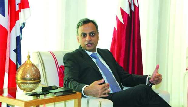 British ambassador Ajay Sharma.