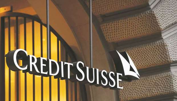 Credit Suisse logo is seen outside its branch in Zurich. Credit Suisse and Citigroup are among banks