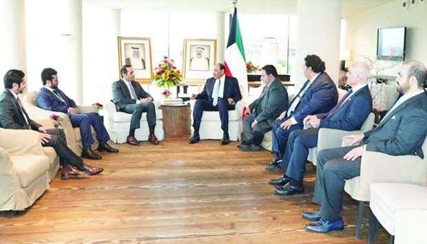 The Kuwaiti Prime Minister meets with the Deputy Prime Minister and Minister of Foreign Affairs