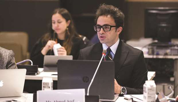 Difi researcher Ahmed Aref at the session.