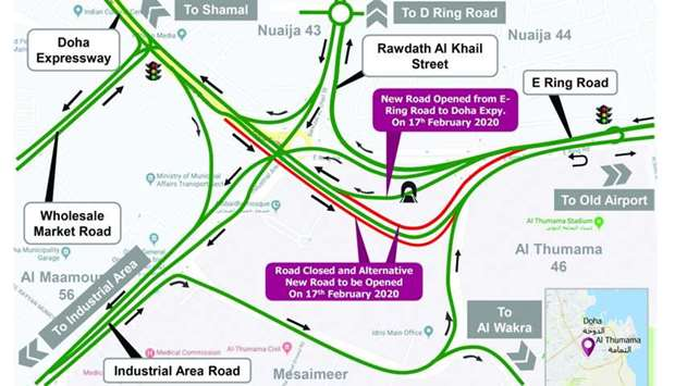 Ashghal opens fourth underpass at Mesaimeer Interchange
