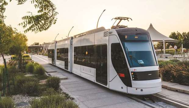The Education City tram.