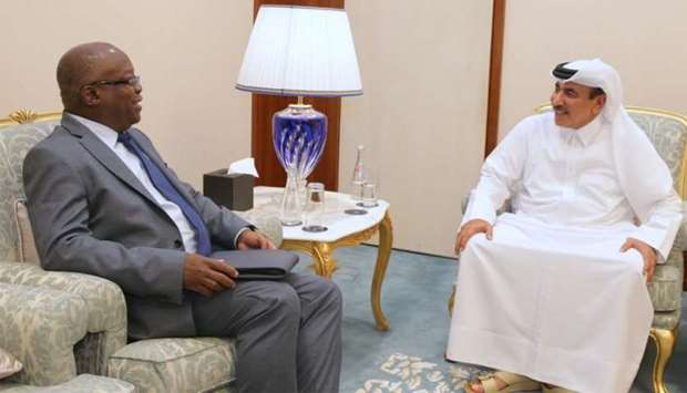 HE the Minister of Transport and Communications Jassim Seif Ahmed al-Sulaiti holding talks with assi