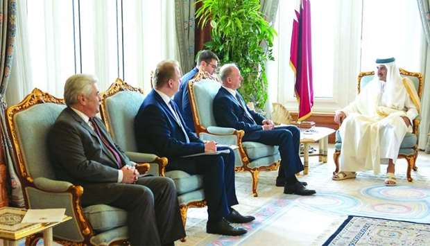 Amir meets Secretary of Russian Security Council