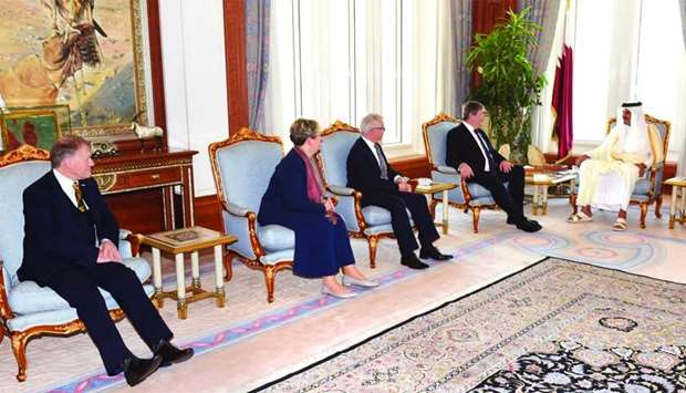 Amir meets British Parliament delegation