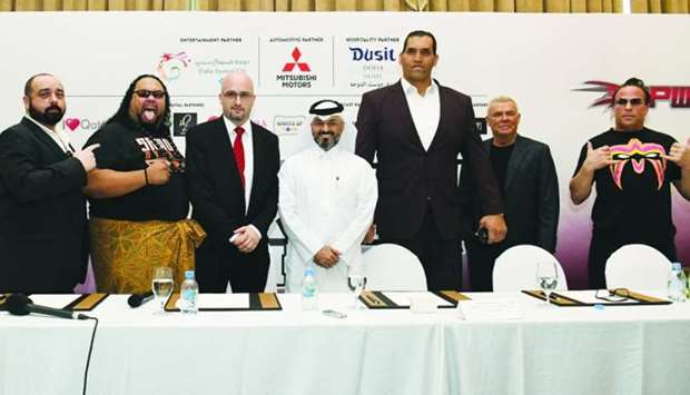 The pro-wrestling superstars Alofa, The Great Khali, and Rob Van Dam join QPW and Superslam 2 organi