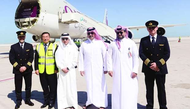 Qatar Airways Group chief executive HE Akbar al-Baker, Chinese ambassador Zhou Jian and others atten