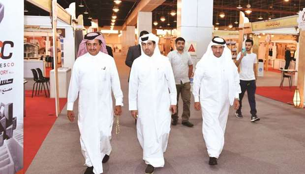 Qatar Chamber Chairman HE Sheikh Khalifa bin Jassim al-Thani and other top officials during their vi