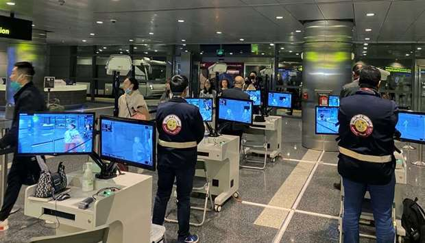 HIA thermal screening of passengers from China