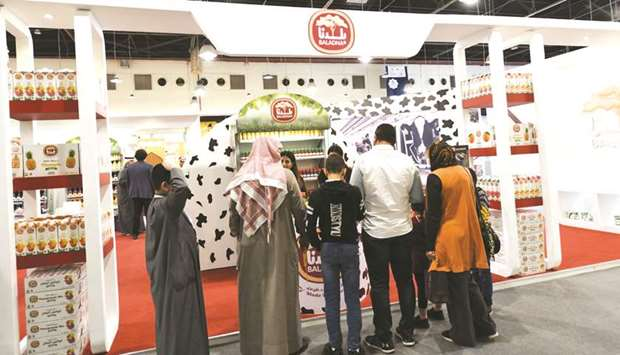 Baladna's stand received many exhibitors and visitors, who expressed their delight with the products