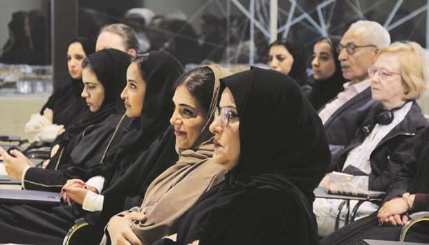Amal A al-Mannai, Dr Amal al-Malki and other dignitaries at the event.