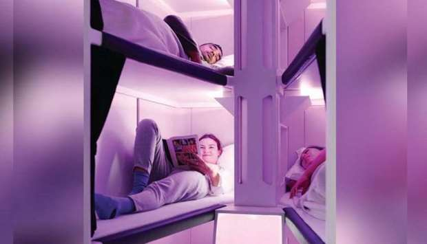 Air New Zealand unveils economy class sleep pods